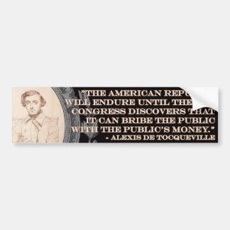 Cita de Alexis de Tocqueville: El curso de la vida Pegatina Para Auto