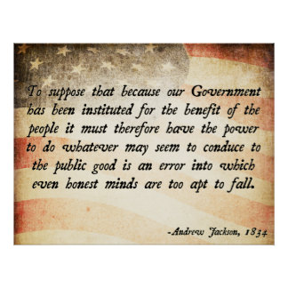 Cita de Andrew Jackson Posters