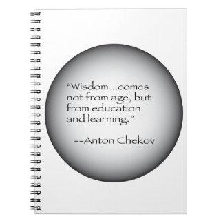 Cita de Antón Chekov Libro De Apuntes Con Espiral