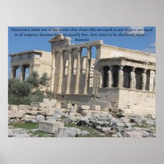 Cita de Aristóteles con la foto de la acrópolis Impresiones