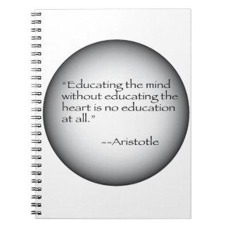 Cita de Aristóteles Libro De Apuntes Con Espiral