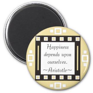 Cita de Aristóteles de la felicidad - de motivació Imanes