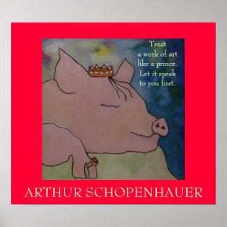Cita de Arthur Schopenhauer - POSTER