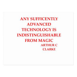 cita de Arturo c clarke Postal