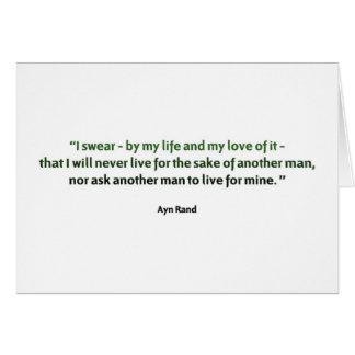 Cita de Ayn Rand Tarjeta De Felicitación