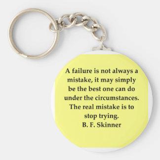 cita de B F Skinner Llavero Redondo Tipo Pin