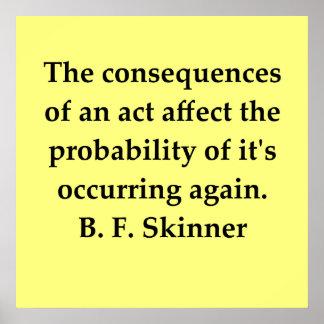 cita de B F Skinner Impresiones