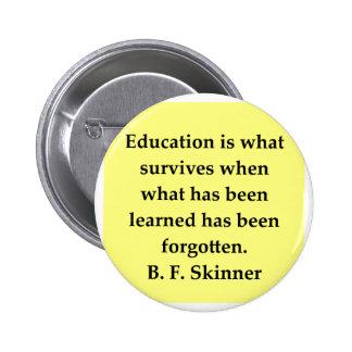cita de B F Skinner Pin