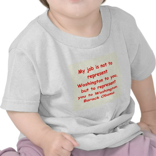 cita de Barack Obama Camiseta