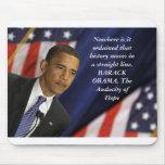 Cita de Barack Obama en historia Alfombrillas De Ratones