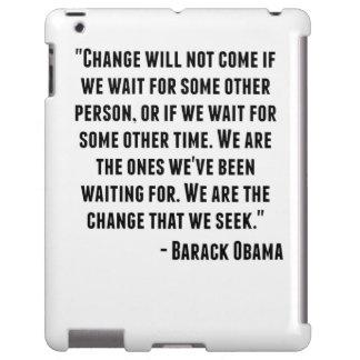 Cita de Barack Obama Funda Para iPad