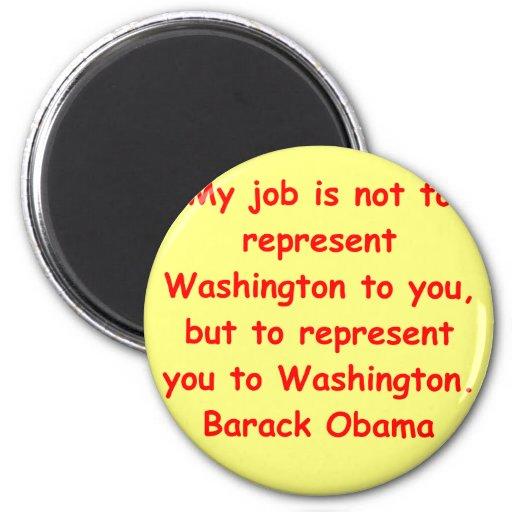 cita de Barack Obama Iman De Frigorífico