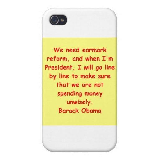 cita de Barack Obama iPhone 4/4S Carcasas