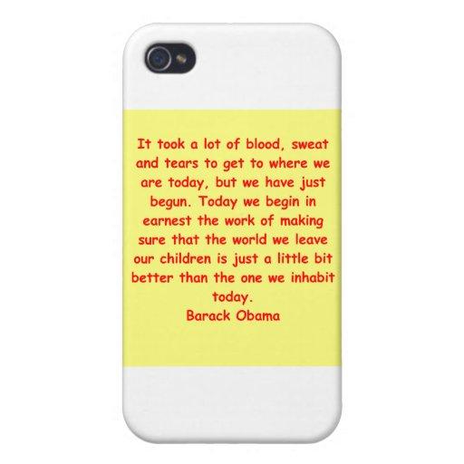 cita de Barack Obama iPhone 4/4S Fundas