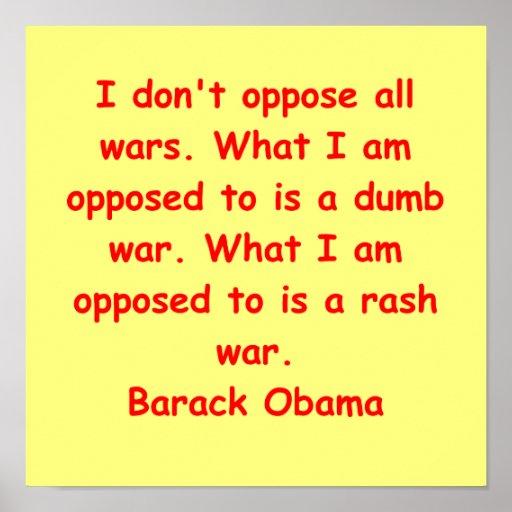 cita de Barack Obama Póster