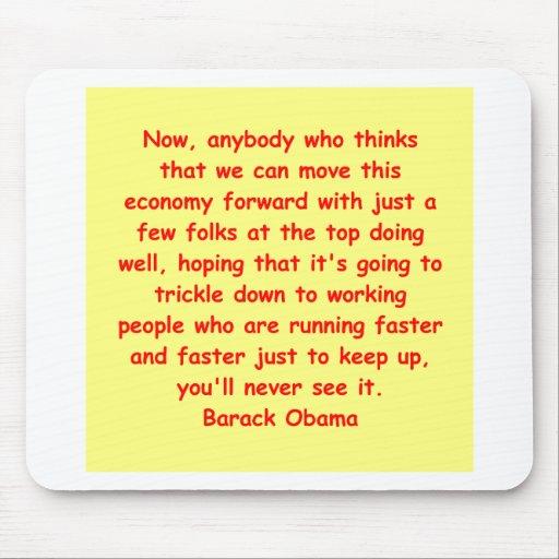 cita de Barack Obama Tapetes De Ratones