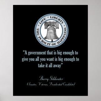 Cita de Barry Goldwater (gobierno grande) Posters