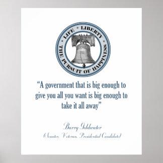 Cita de Barry Goldwater (gobierno grande) Impresiones
