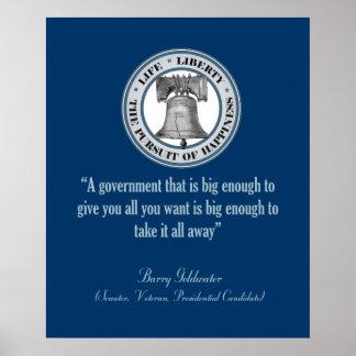 Cita de Barry Goldwater (gobierno grande) Poster