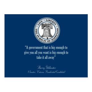 Cita de Barry Goldwater gobierno grande Postales