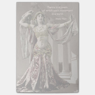 Cita de Bellydance del vintage de Mata Hari Post-it® Notas
