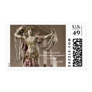Cita de Bellydance del vintage de Mata Hari Sello