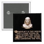 Cita de Ben Franklin: 2 lobos y un cordero bien ar Pins