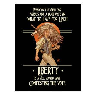 Cita de Ben Franklin: Cordero armado bien Postales