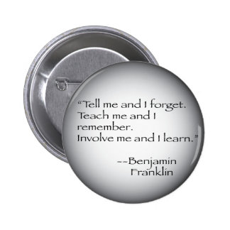 Cita de Benjamin Franklin Pin