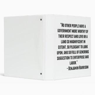 "Cita de Benjamin Harrison Carpeta 1"""