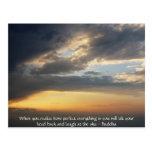 Cita de Buda - cuando usted realiza cómo es perfec Tarjetas Postales