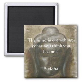 Cita de Buda en budha pintado Imán Cuadrado