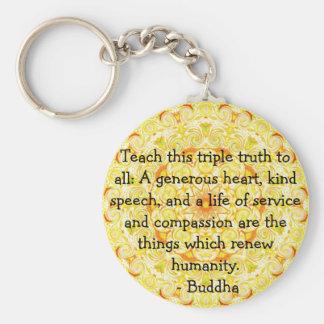 CITA de Buda - enseñe a esta verdad triple…. Llavero