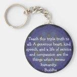 CITA de Buda - enseñe a esta verdad triple…. Llavero Redondo Tipo Pin