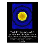 CITA de Buda - enseñe a esta verdad triple…. Tarjetas Postales