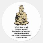 Cita de Buda: La vida es estimada a todos Pegatinas Redondas