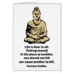 Cita de Buda: La vida es estimada a todos Tarjeta
