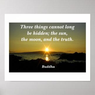 Cita de Buda Póster