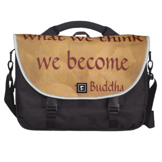 Cita de Buda; Qué pensamos nos convertimos Bolsas De Portátil