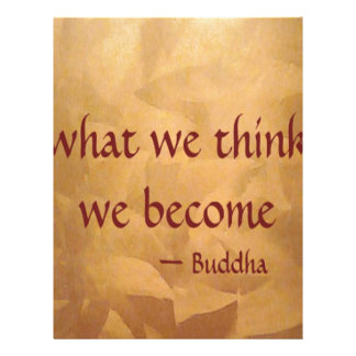 Cita de Buda; Qué pensamos nos convertimos Membrete A Diseño