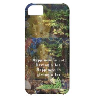 Cita de BUDA sobre felicidad Funda Para iPhone 5C
