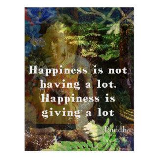 Cita de BUDA sobre felicidad Postales