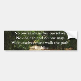 CITA de Buda sobre la salvación y opciones persona Pegatina Para Auto