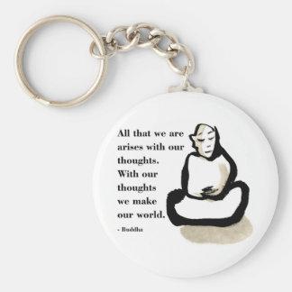 Cita de Buda: Todos que somos Llavero Redondo Tipo Pin