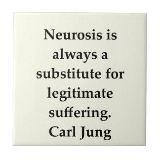 cita de Carl Jung Azulejos Ceramicos