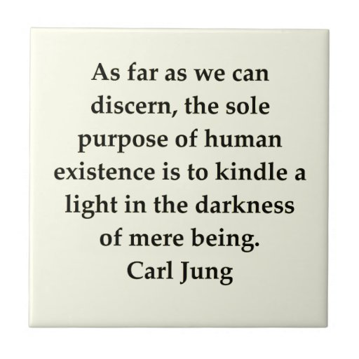 cita de Carl Jung Azulejo Cuadrado Pequeño