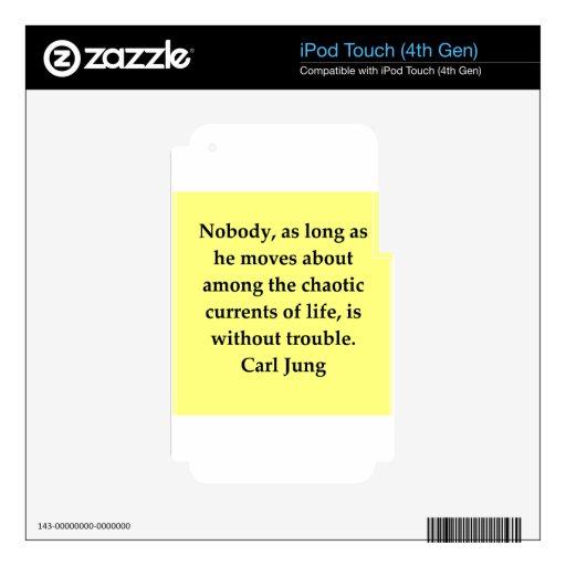 cita de Carl Jung Calcomanía Para iPod Touch 4G