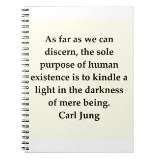 cita de Carl Jung Libros De Apuntes Con Espiral
