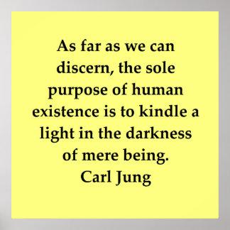 cita de Carl Jung Posters