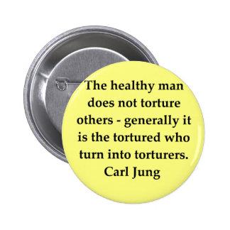cita de Carl Jung Pin Redondo De 2 Pulgadas